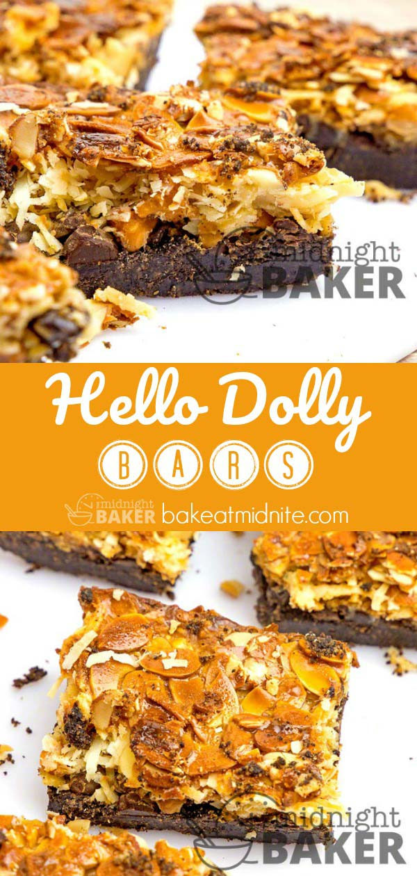 Delicious bar cookies loaded with chocolate flavor and everything but the kitchen sink!