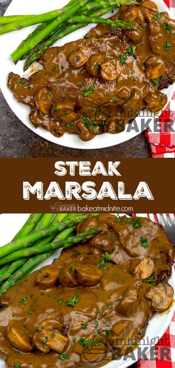 Marsala is not just for chicken--it's great with steak too/