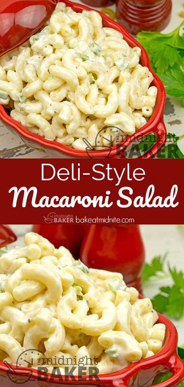 Macaroni salad just like the neighborhood deli