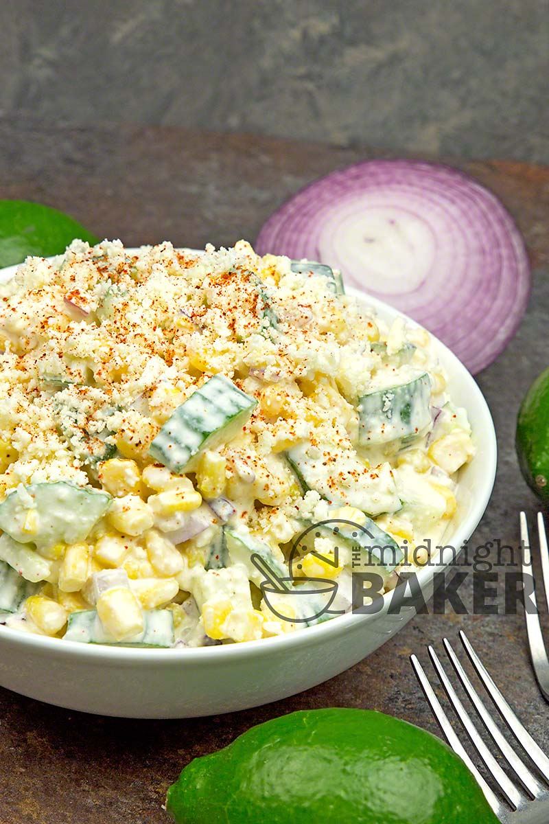 Just like Mexican Street Corn but made as a salad.