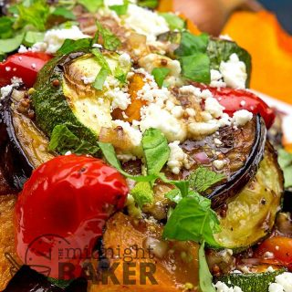 Roasted vegetable salad is a side that can double as a meal.