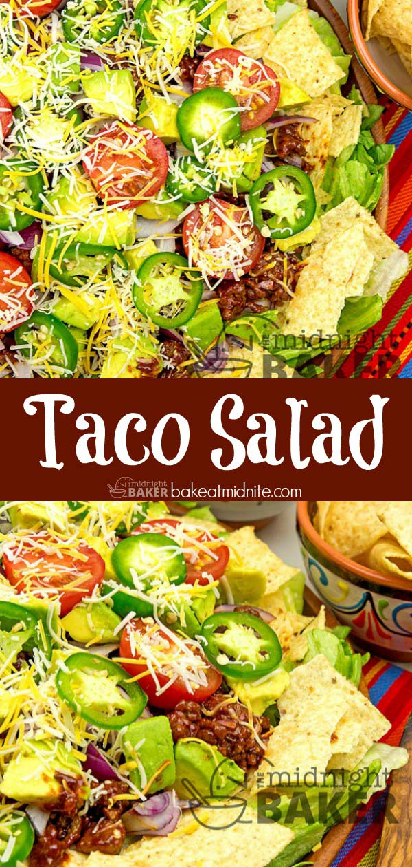 This taco salad will beat the heat on hot summer days.