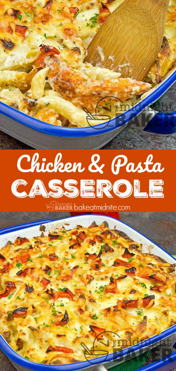 This cheesy chicken and pasta casserole is a bug hit with kiddos and grown ups alike.