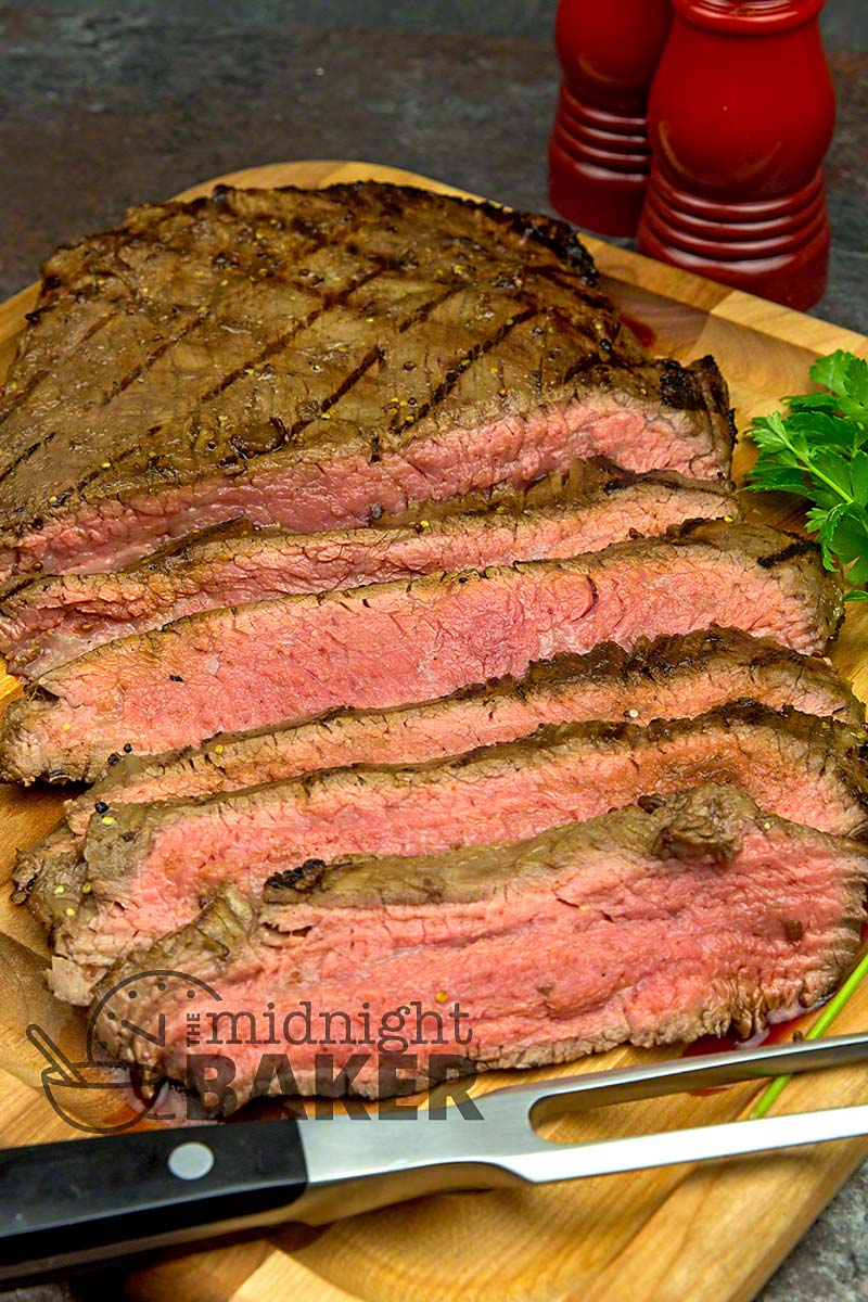 Perfect flank steak for summer grilling.