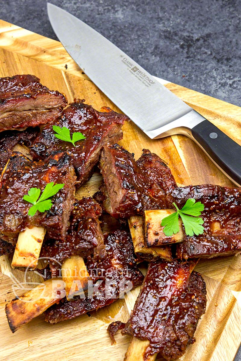 Beef babu back ribs only get better with some Jack Daniels glaze