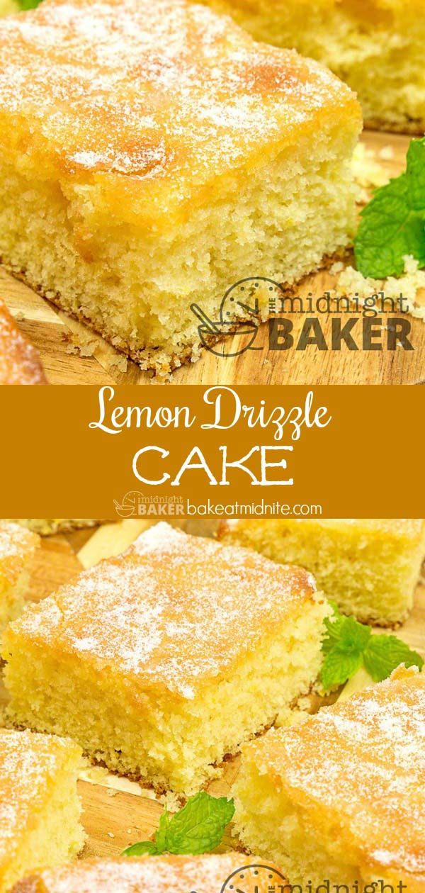 For lemon lovers! This lemon drizzle cake is easy to make/