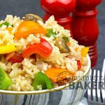 Savory rice that's the perfect side for any meat or fish dish.