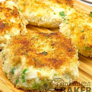 Not your ordinary fish cake. These have been raised to royalty. Perfect Lenten meal.