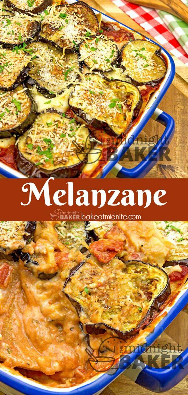 Melanzane is a cross between lasagna and eggplant parmesan.