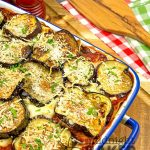 Melanzane is a cross between lasagna and eggplant parmesan.