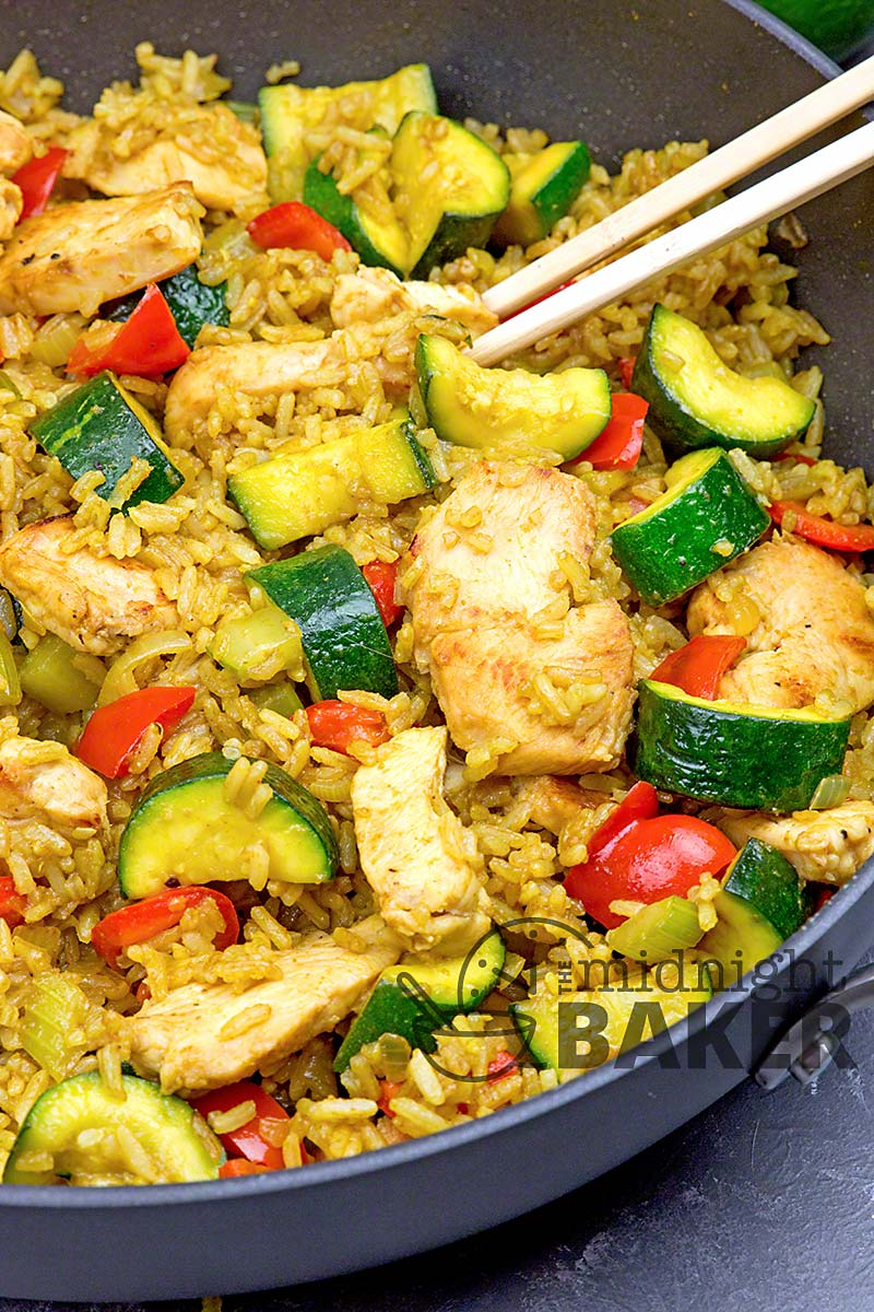 Here's a quick and easy chicken and zucchini stir fry with an exotic flavor