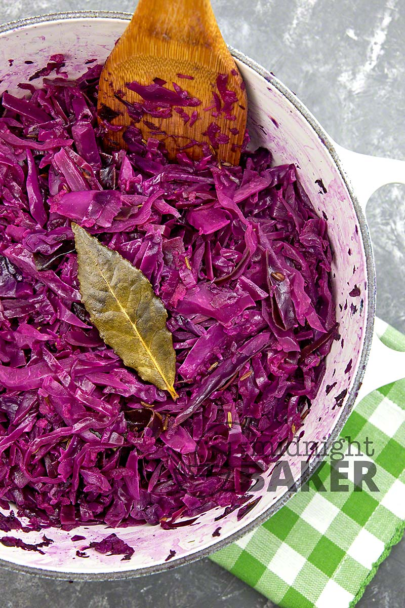 Red cabbage is perfect with roast pork