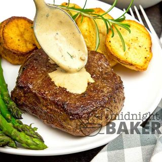 Filet steak, aka filet mignon is a real treat so make it memorable with a great peppercorn sauce.