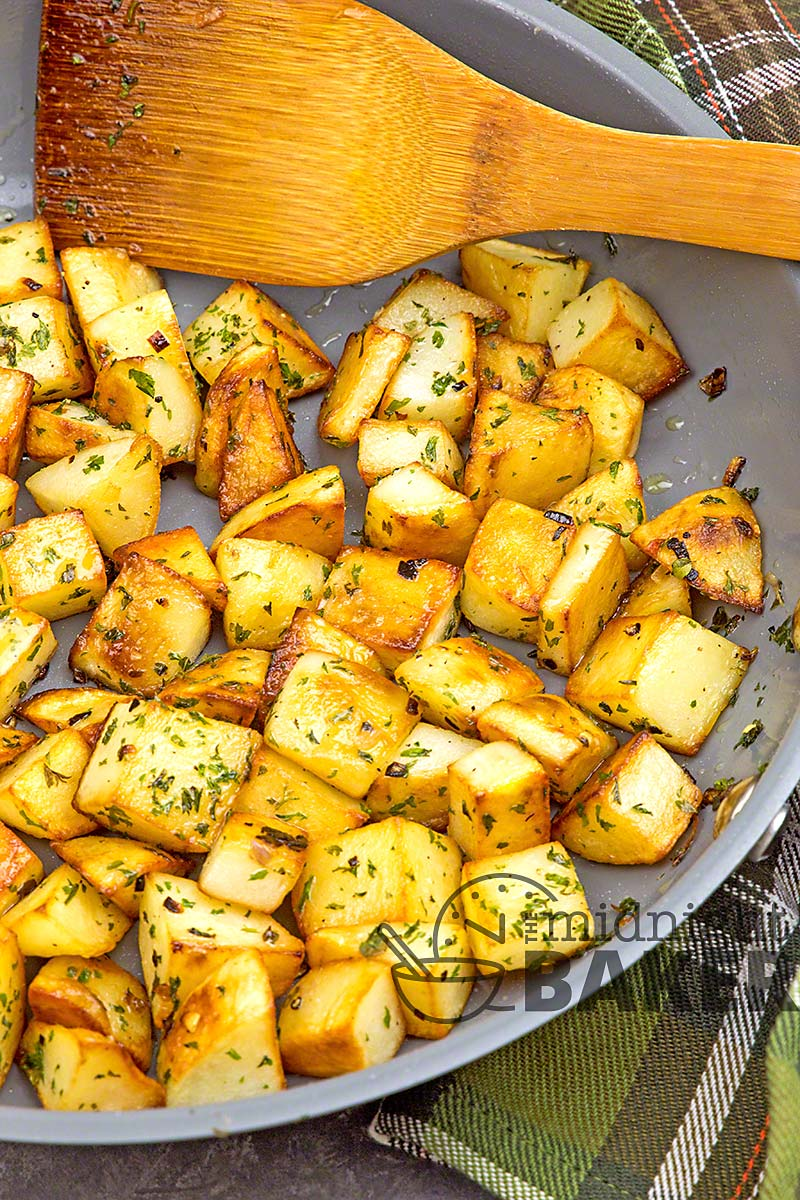 These potatoes are an excellent dinner side dish or with eggs at breakfast.