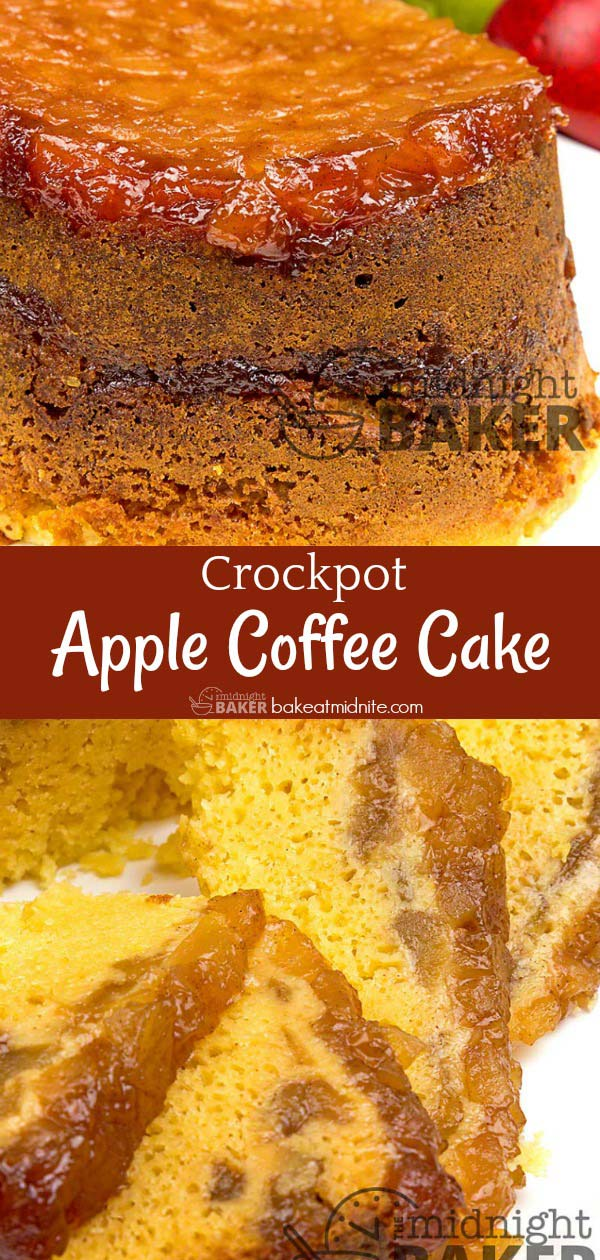 Yes, you can bake in your crockpot. Start with this delicious apple coffee cake.