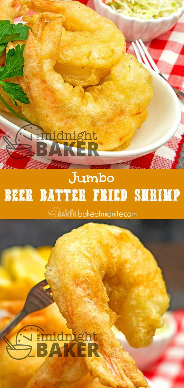 Watch these jumbo beer battered fried shrimp disappear quickly. They're addictive!