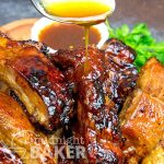 Yummy baby back ribs glazed with a tangy pineapple sauce.