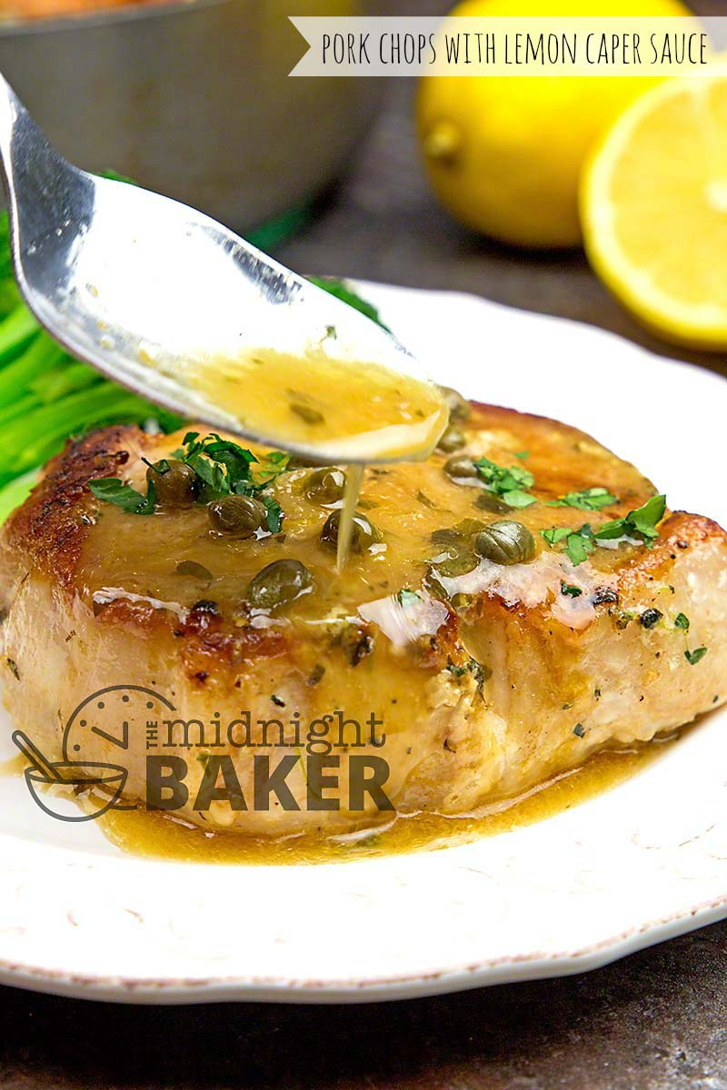 This tangy lemon caper sauce makes these pork chops sing.