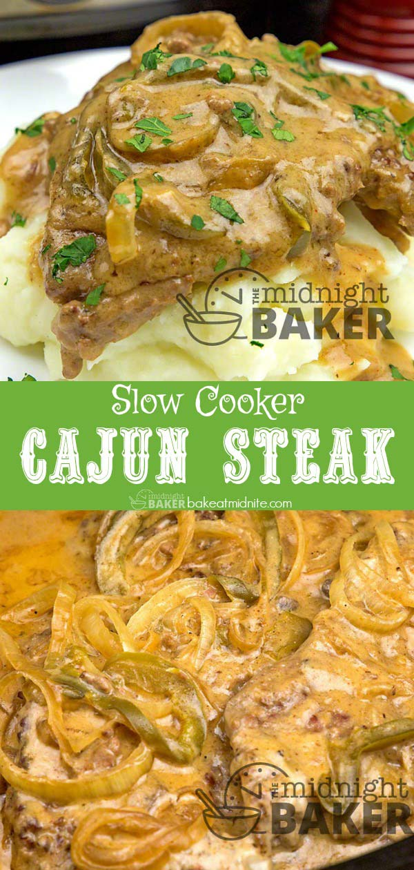 Great tasting cajun steak made low and slow in the crockpot