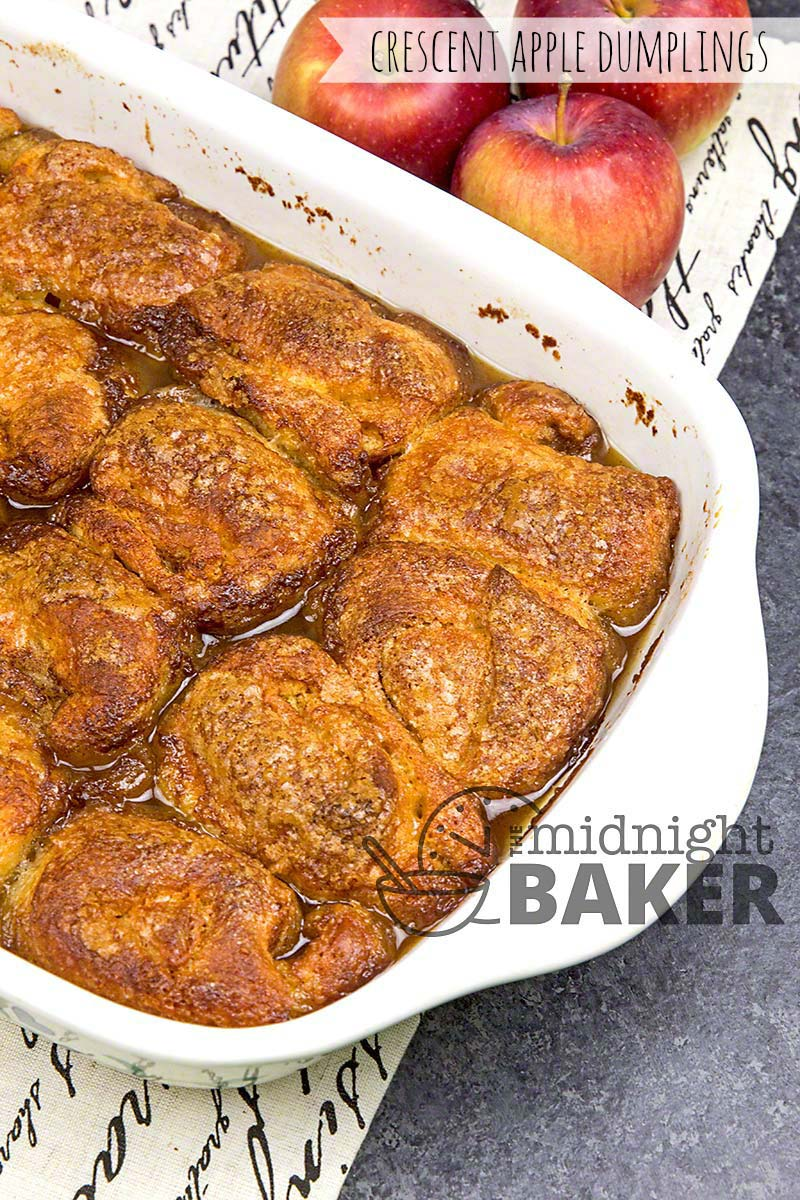 Apple dumplings made easy with crescent roll dough