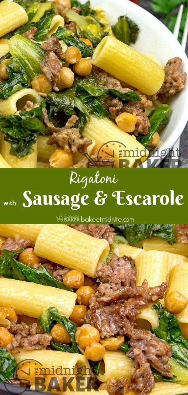 This entire meal only has 1/2 lb of sausage but it's a satisfying money saver.