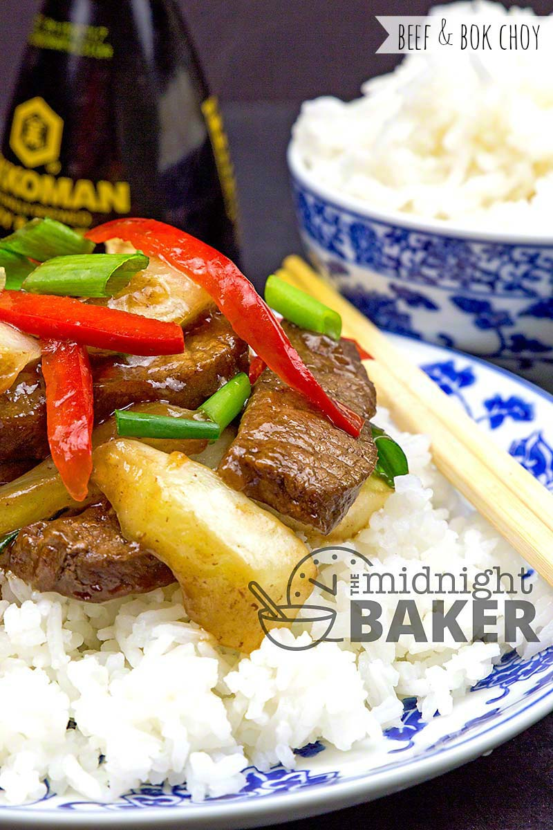 Yummy marinated flank steak and crisp bok choy make a delicious dinner that's quick and easy.
