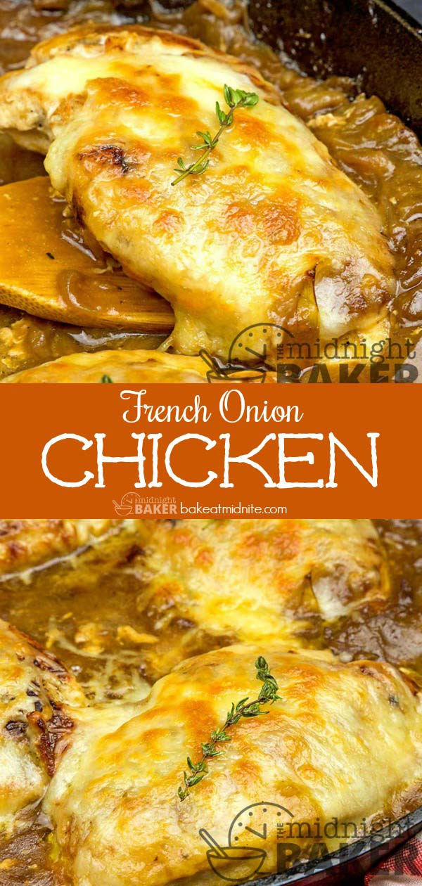 Loaded with caramelized onions and cheese, French onion chicken is always a big hit.