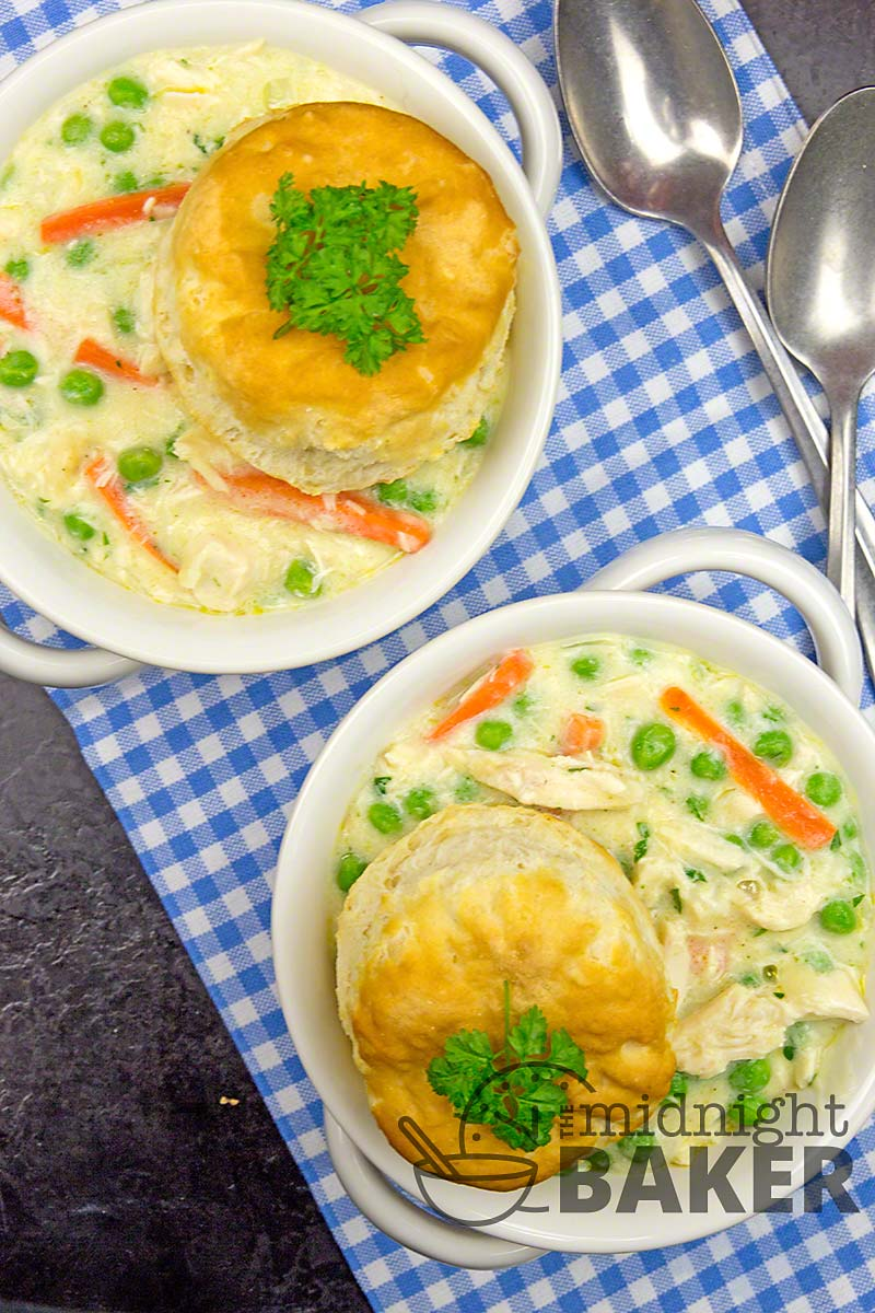 Possibly the best chicken pot pie you'll ever eat! Done on the stovetop so it's quick and easy.