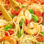Easy and delicious shrimp and pasta meal.
