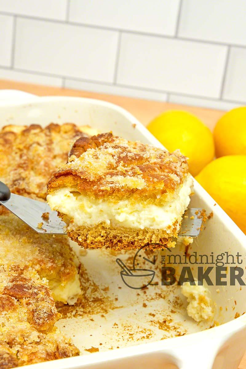 Easy to make lemon sopapilla is bursting with bright lemony flavor