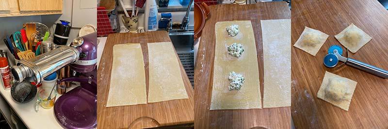 Hand-made ravioli