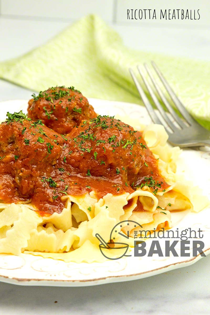 Ricotta meatballs have a great texture.
