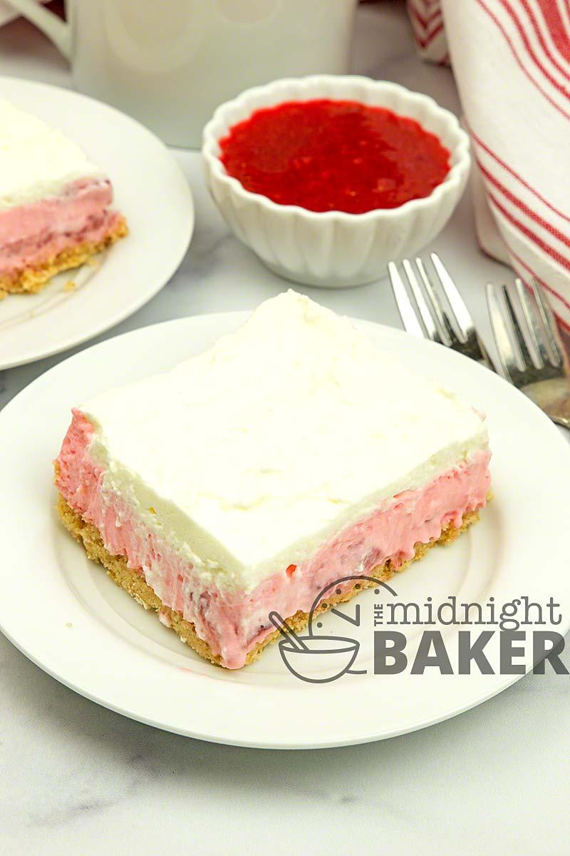 No bake strawberry cream dessert