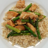 Lemon Chicken & Asparagus Quinoa Bowl