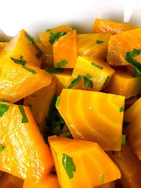 Golden beet salad baked ambrosia beets are very healthy naturally sweet and a colorful addition to any table enjoy them in this easy and fresh golden beet salad with a white balsamic forumfinder Image collections