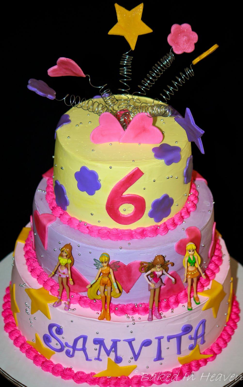 Winx Club Fairy Cake Baked In Heaven