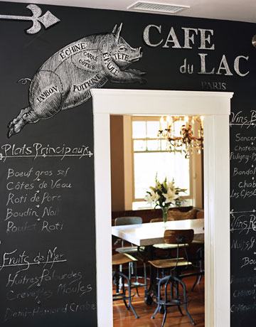a chalk board in the kitchen of tyler florence with pid drawing