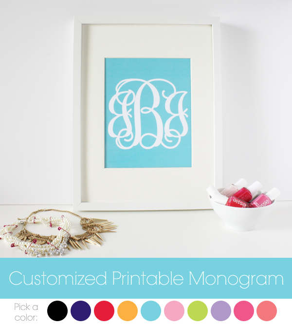 customized printable monogram Customized Printable Monogram