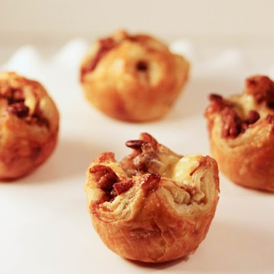 Bourbon Pecan Brie Puffed Pastries