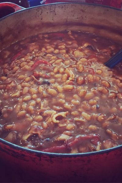 Paula Deen Southern Style Pork & Beans| Baked In The South