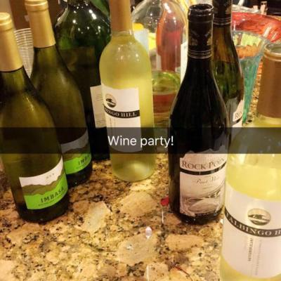 Last Night's Wine Party!