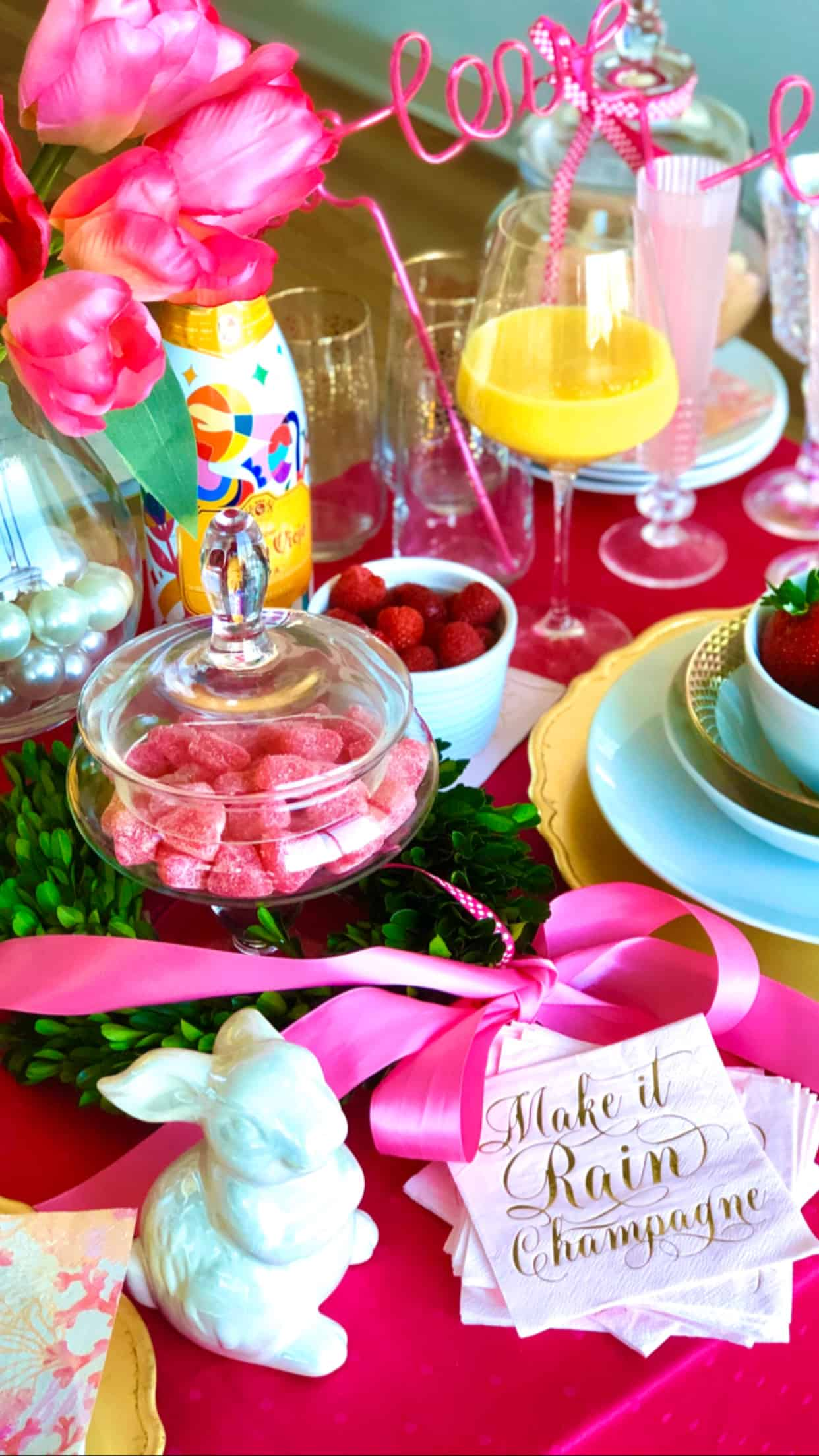 Easter Brunch Tablescape