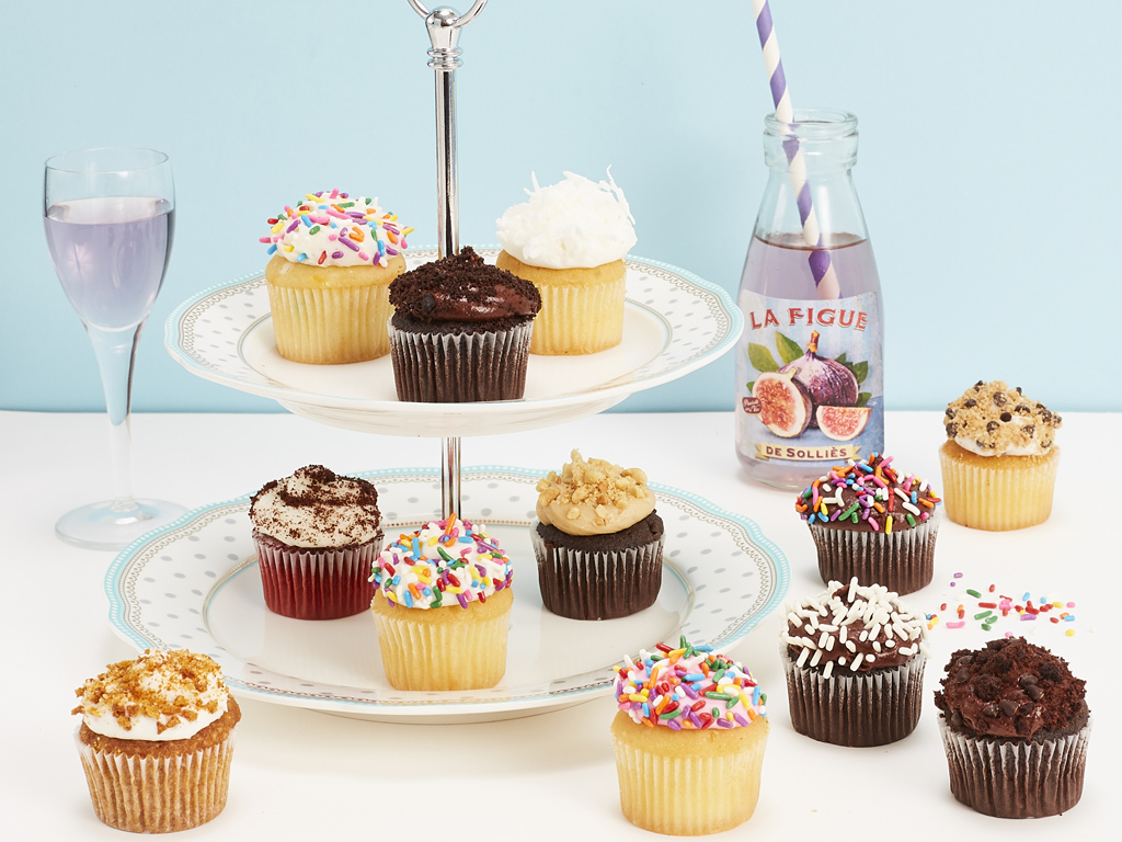 Bake Me A Wish! Mini Assorted Gourmet Cupcakes Delivery