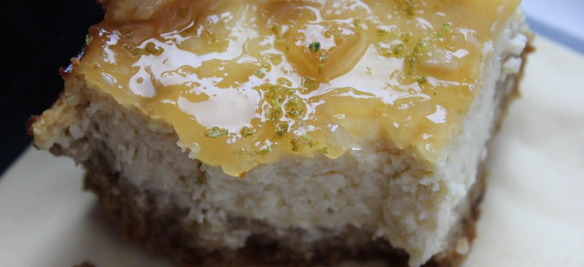 Zesty lime cheesecake