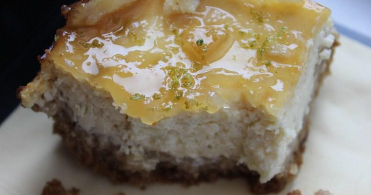 Tortë me krem djathi dhe lëng limoni lime