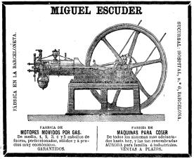 Anuncio de la Fábrica de Miguel Escuder