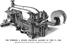 Máquina de Coser Wheeler & Wilson, 1852