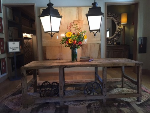 Large Sconces over Entry Table