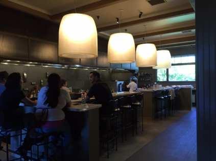 kitchen interior design green warm lighting
