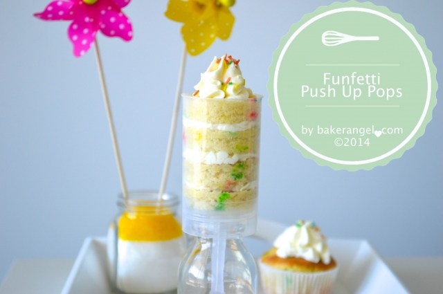 Funfetti Push Up Pops by bakerangel.com